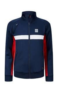 Retour Denim vest Paul donkerblauw/rood/wit, Donkerblauw/rood/wit