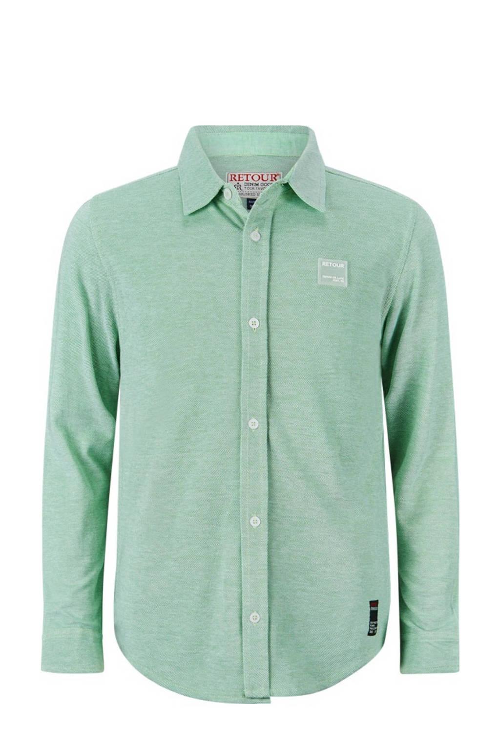 Retour Denim overhemd Keith helder groen, Helder groen