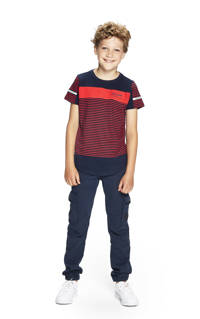 Retour Denim gestreept T-shirt Pharrel donkerblauw/rood, Donkerblauw/rood