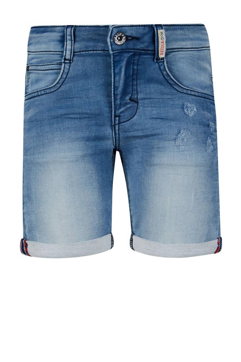 Retour Denim regular fit jeans bermuda Loek light blue denim, Light blue denim