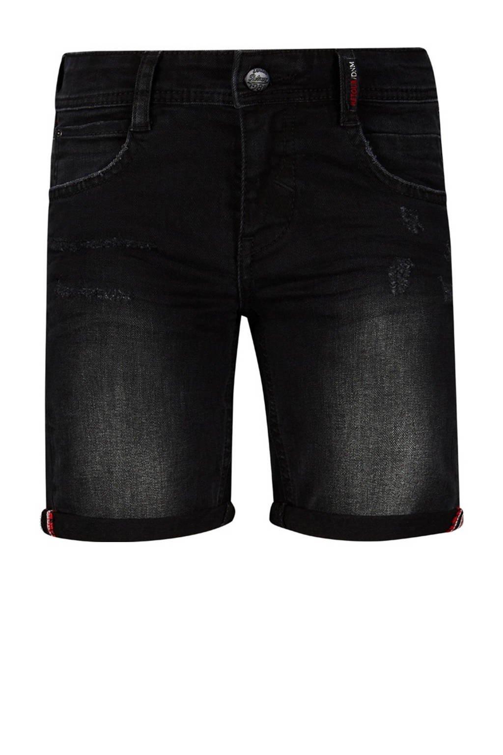 Retour Denim regular fit jeans bermuda Reve black denim, Black denim