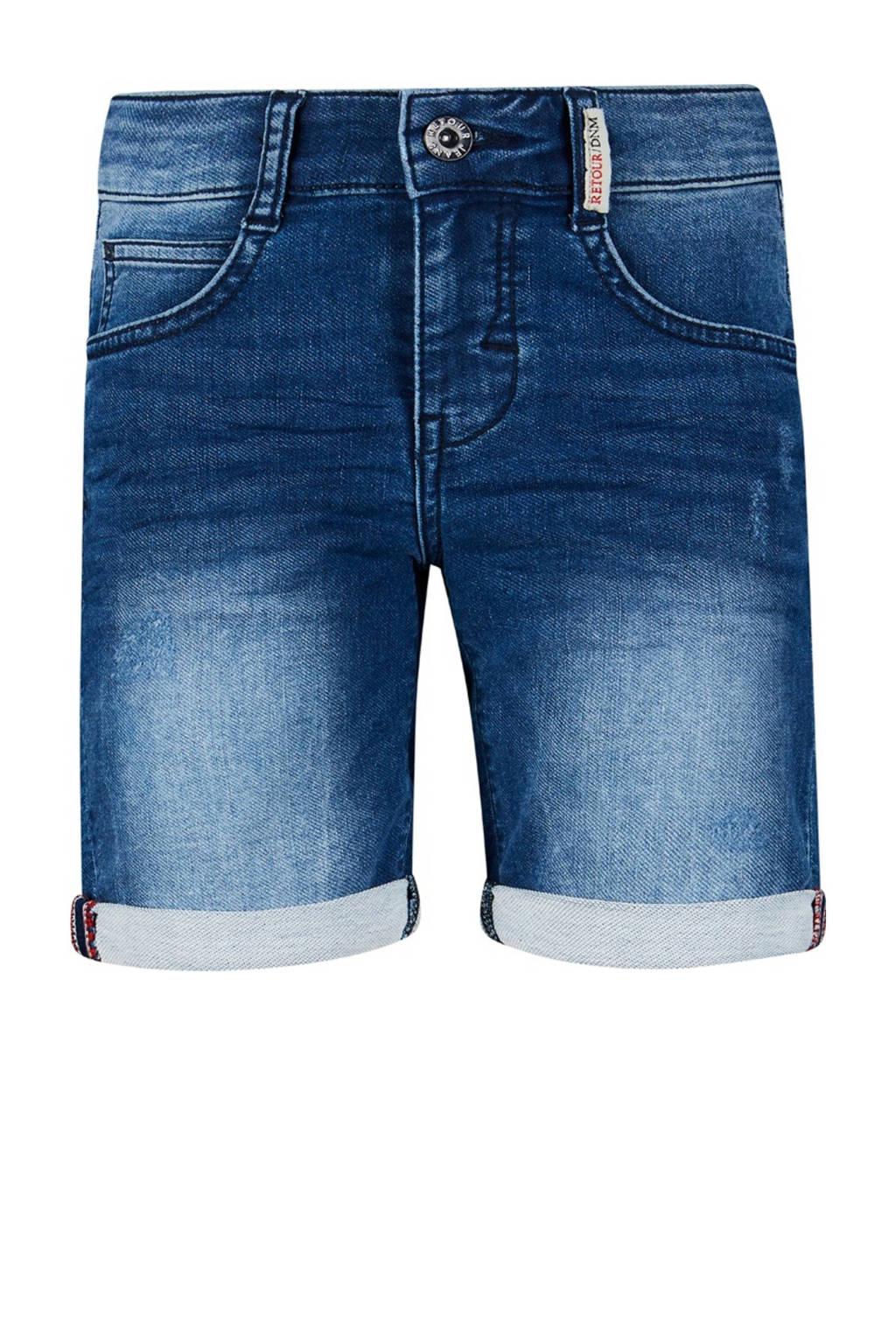 Retour Denim regular fit jeans bermuda Loek medium blue denim, Medium blue denim