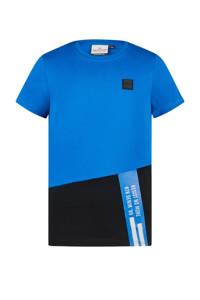 Retour Denim T-shirt Gavin van biologisch katoen blauw/zwart, Blauw/zwart