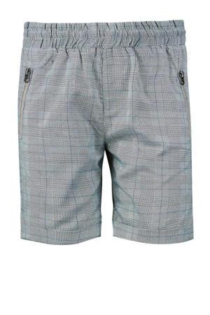 geruite regular fit short Jody grijs/wit