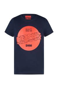 Retour Denim T-shirt Davis met printopdruk donkerblauw/rood, Donkerblauw/rood