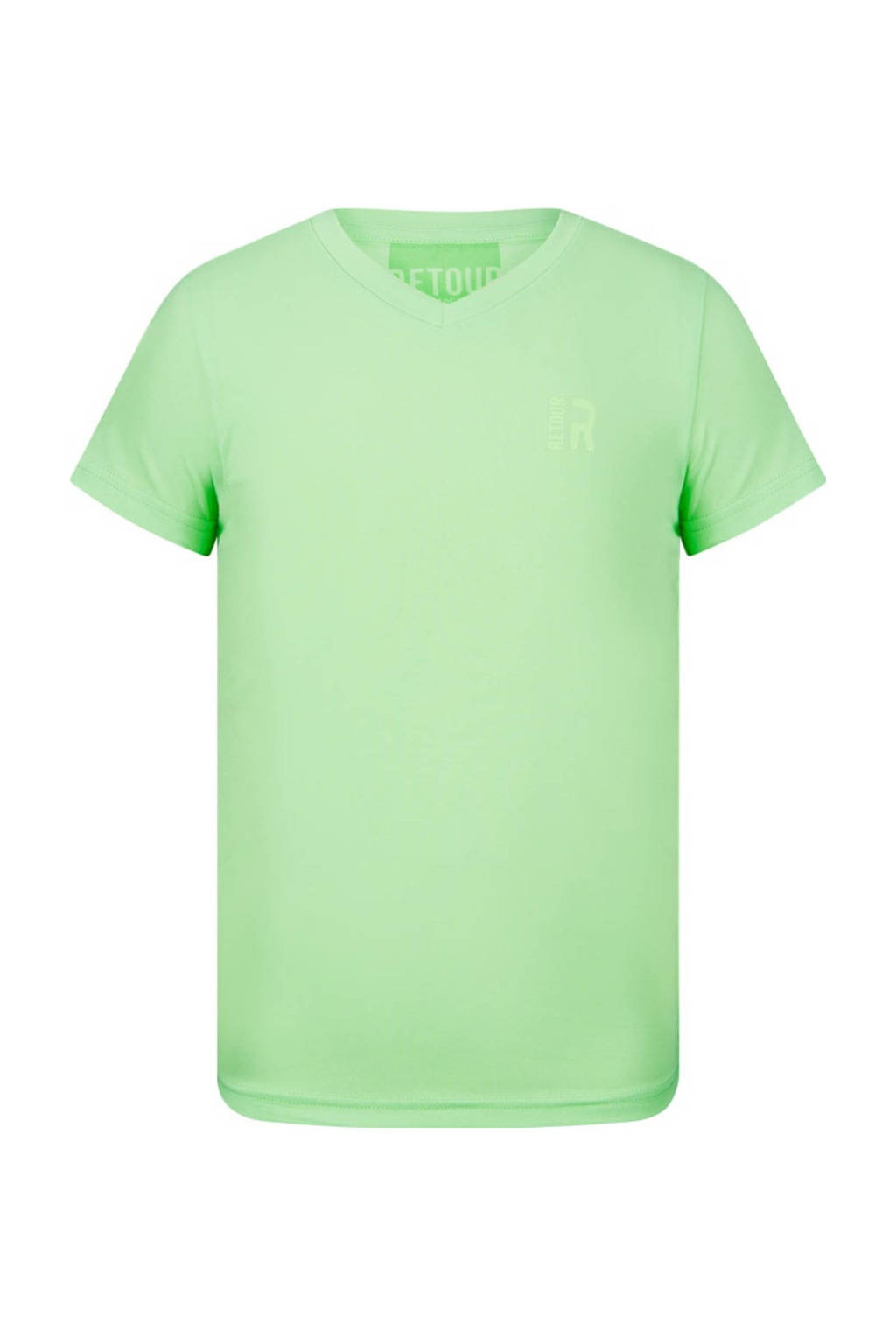 Retour Denim basic T-shirt Sean fris groen, Fris groen