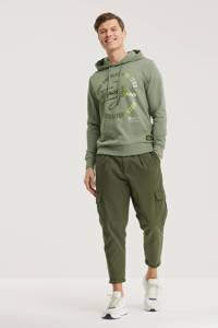 JACK & JONES CORE hoodie Micks met logo grijsgroen, Grijsgroen