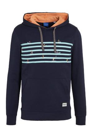hoodie Play met printopdruk donkerblauw