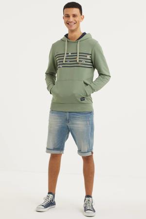 hoodie Play met printopdruk groen