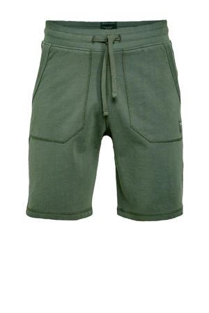 regular fit sweatshort groen