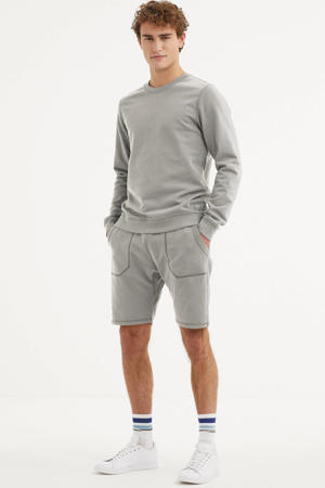 regular fit sweatshort grijs