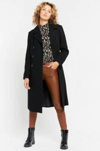 LOLALIZA  coat met ceintuur zwart, Zwart