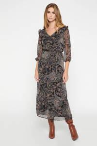 LOLALIZA semi-transparante maxi blousejurk met paisleyprint paars, Paars