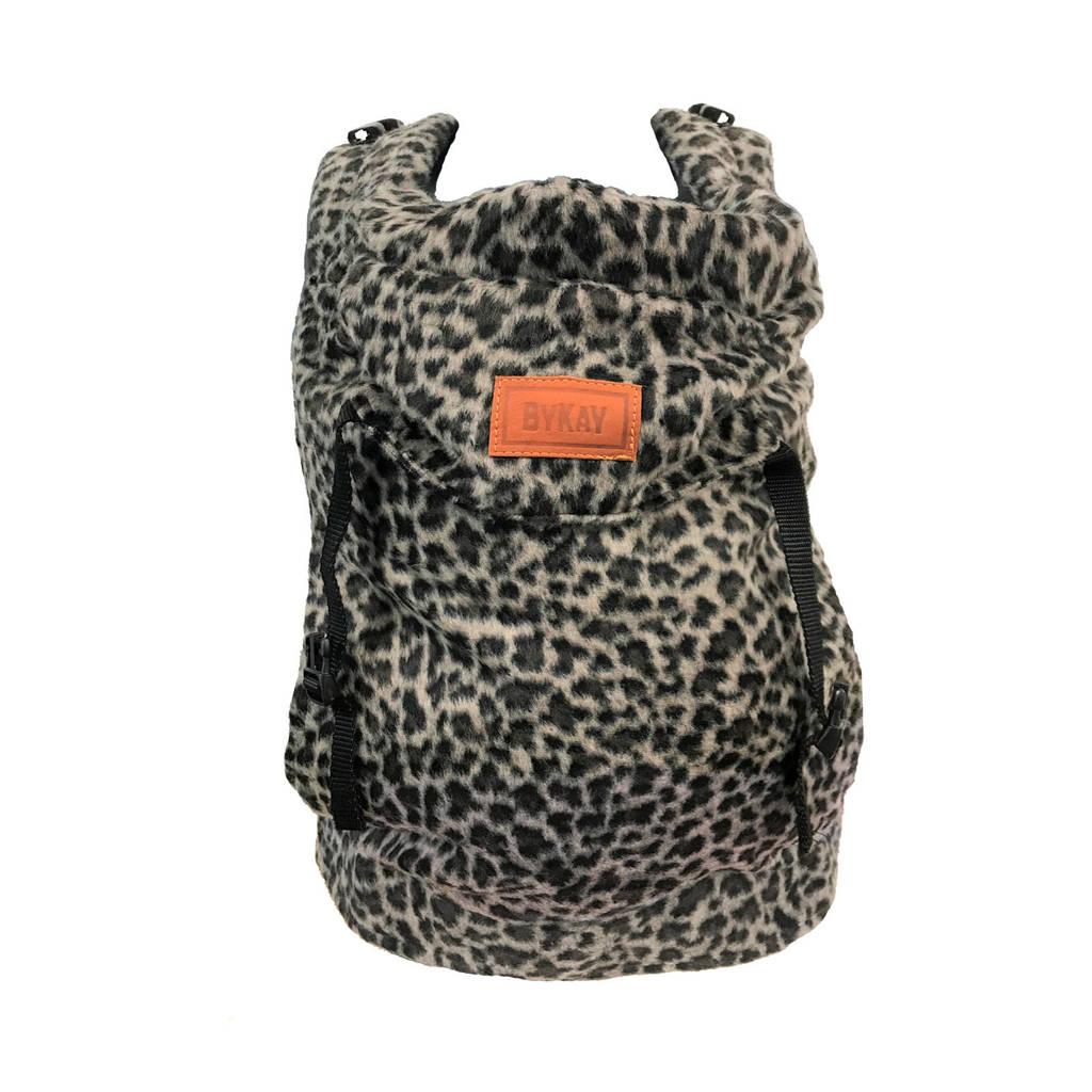 ByKay Click Carrier Classic draagzak Furry Leopard Grey
