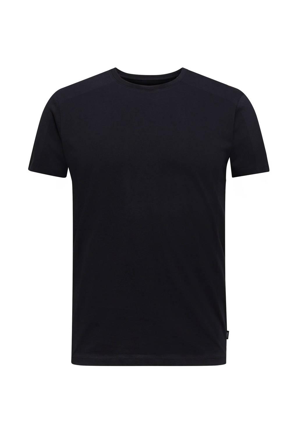 ESPRIT Men Casual T-shirt zwart, Zwart