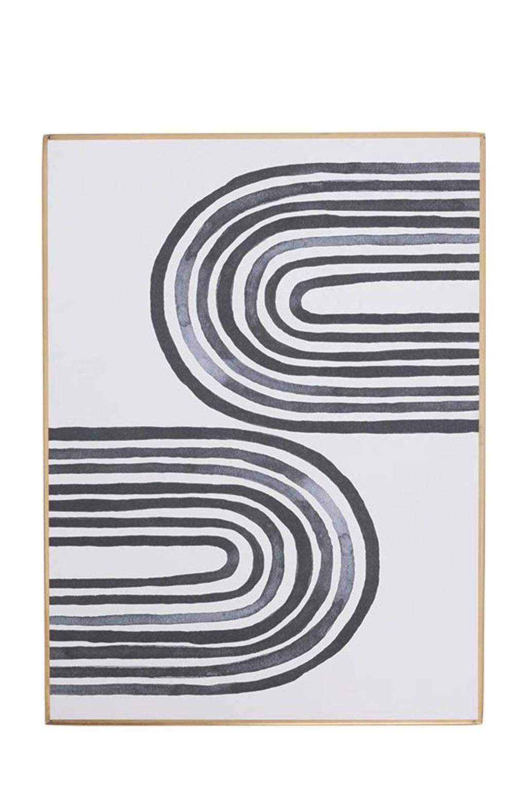 Urban Nature Culture schilderij Aesthetic Multi Lines  (30x40 cm), Gold