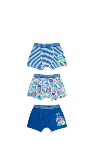 boxershort - set van 3 blauw