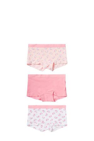 short - set van 3 roze