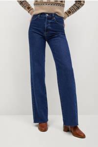 Mango high waist loose fit jeans dark blue, Dark Blue