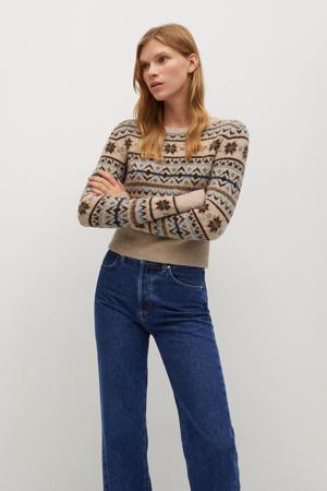 high waist loose fit jeans dark blue