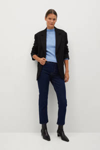Mango gemêleerde ribgebreide trui van gerecycled polyester lichtblauw, Lichtblauw