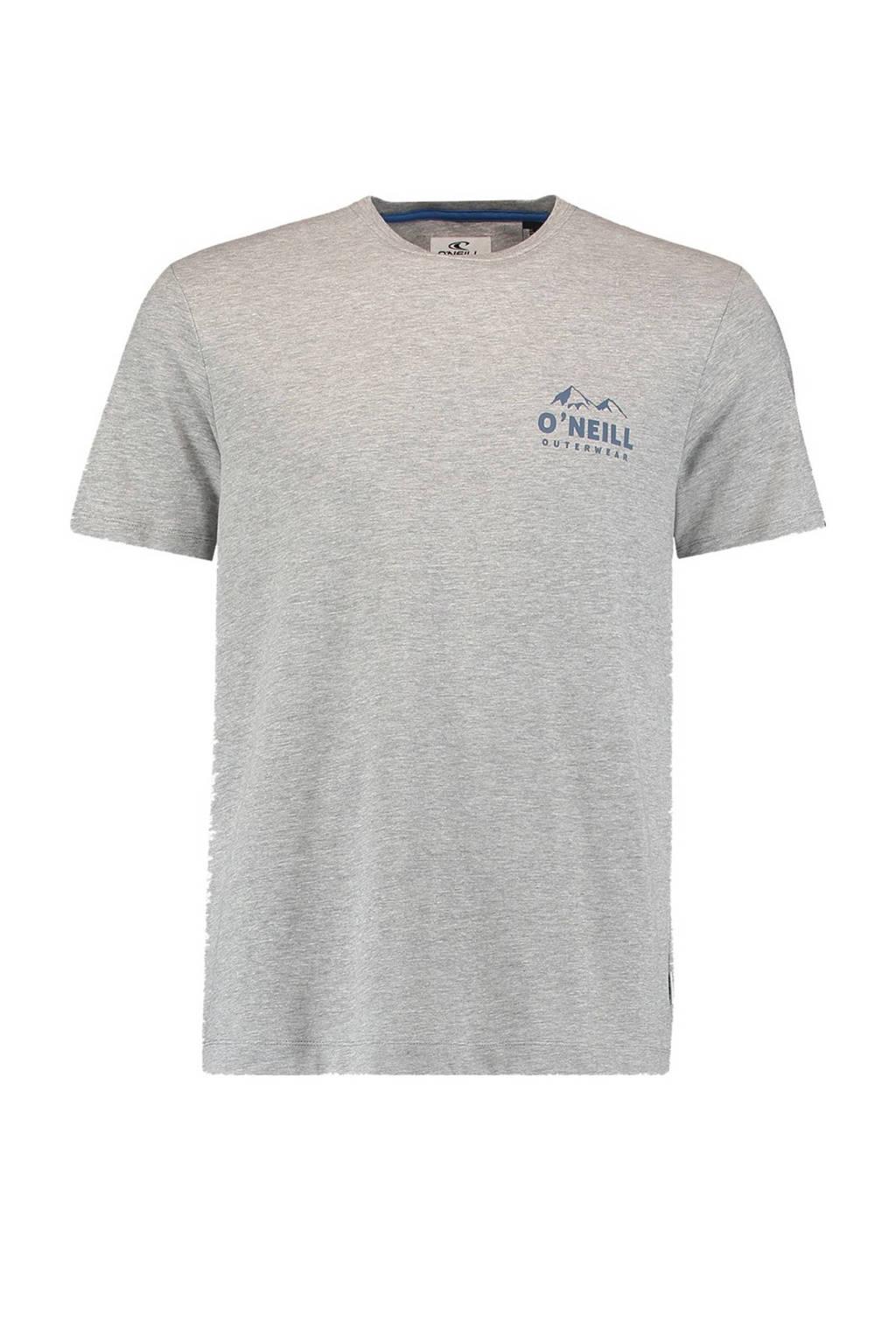 O'Neill T-shirt Rocky Mountain blauw, Grijs melange