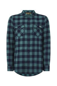 O'Neill geruit overhemd donkerblauw/groen, BLUE AOP W/ BLUE