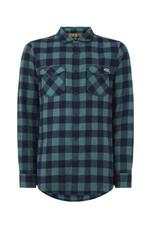 geruit overhemd donkerblauw/groen