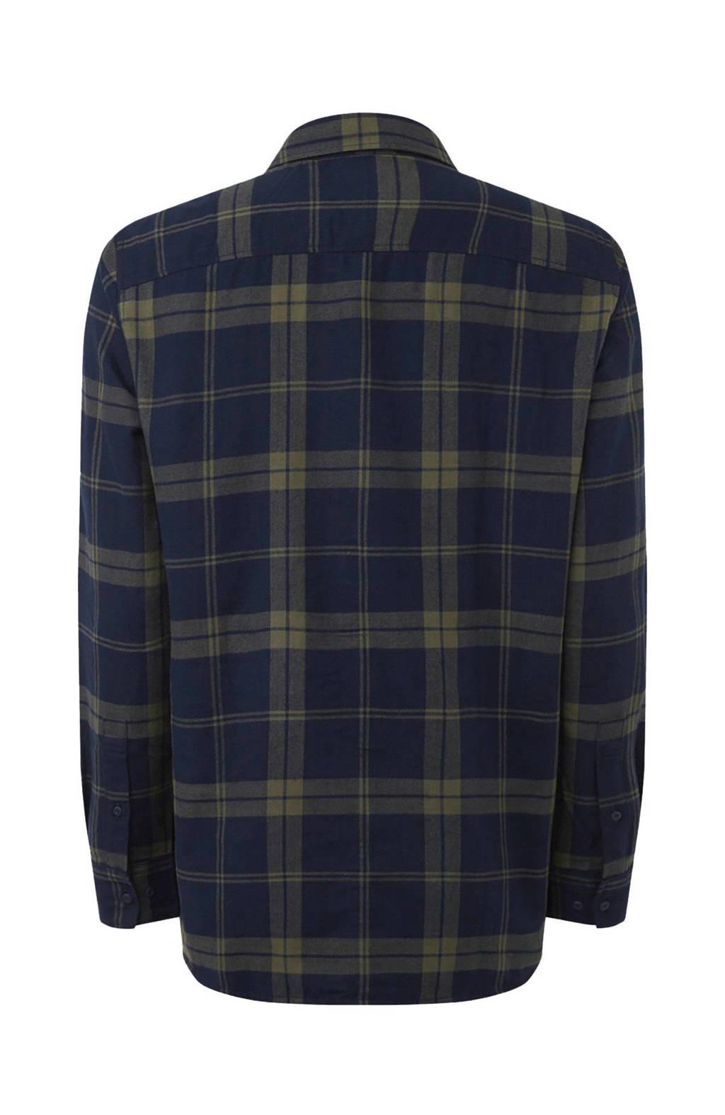 O'Neill geruit overhemd donkerblauw/kaki, GREEN AOP