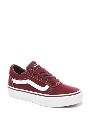 Ward  sneakers donkerrood/wit