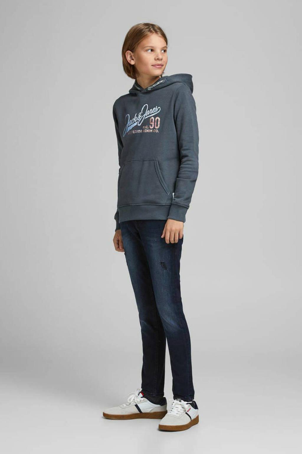 JACK & JONES JUNIOR hoodie met logo blauw, Blauw
