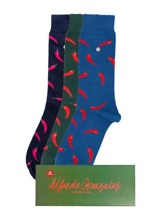 Giftbox sokken Red Peppers - set van 3