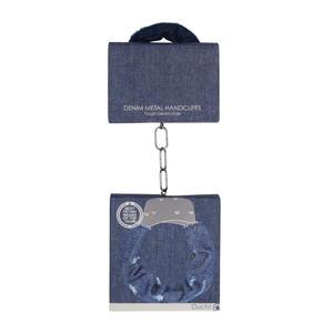 Denim Metalen Spijkerstof handboeien - Blauw