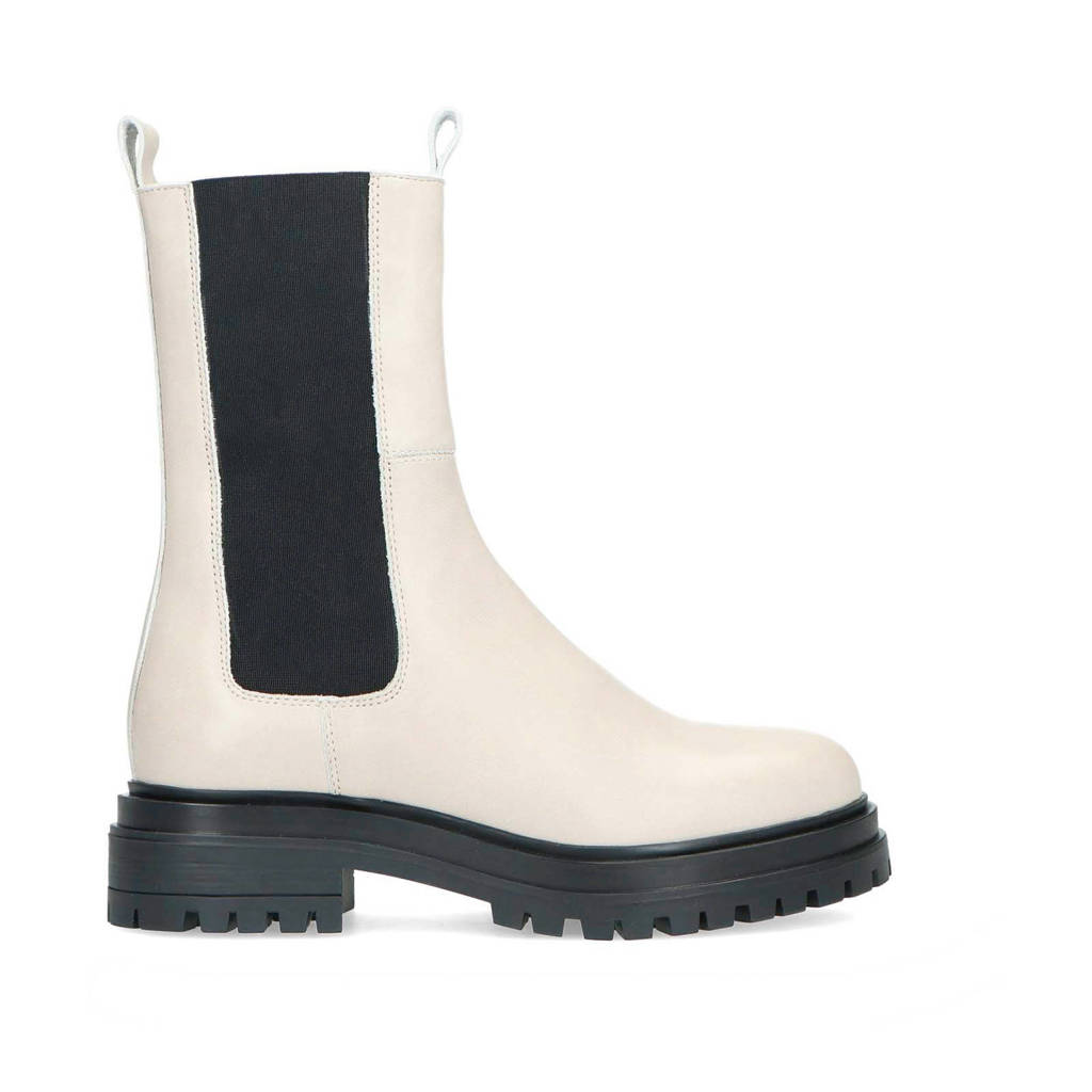 Manfield   leren chelsea boots off white, Off White