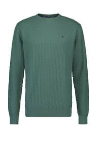 Haze & Finn gemêleerde fijngebreide trui groen, Groen