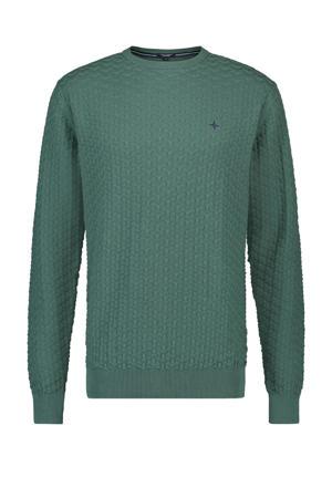 gemêleerde fijngebreide trui groen
