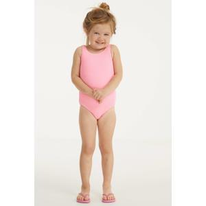 baby girls badpak met textuur neonroze