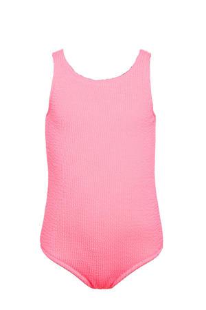 baby girls badpak met textuur neon roze