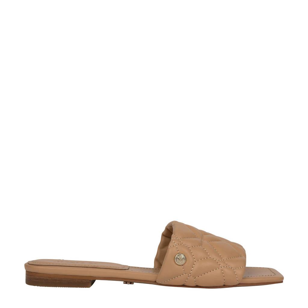 JOSH V Emma  leren slippers bruin, Bruin/Latte