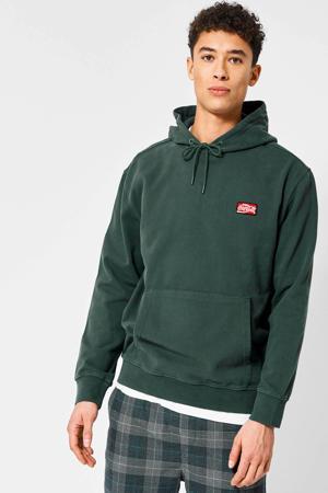 hoodie Sage Coca met borduursels groen