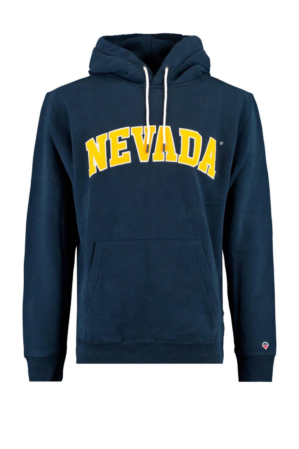 America Today hoodie Sage Nevada met tekst donkerblauw, Donkerblauw