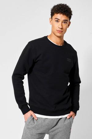 unisex sweater met tekst zwart
