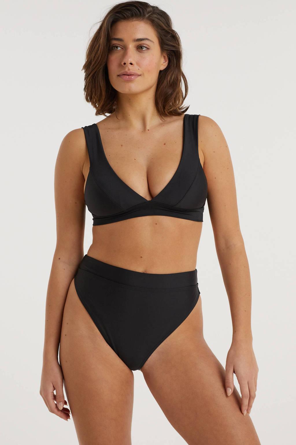 BEACHWAVE high waist bikinibroekje zwart, Zwart