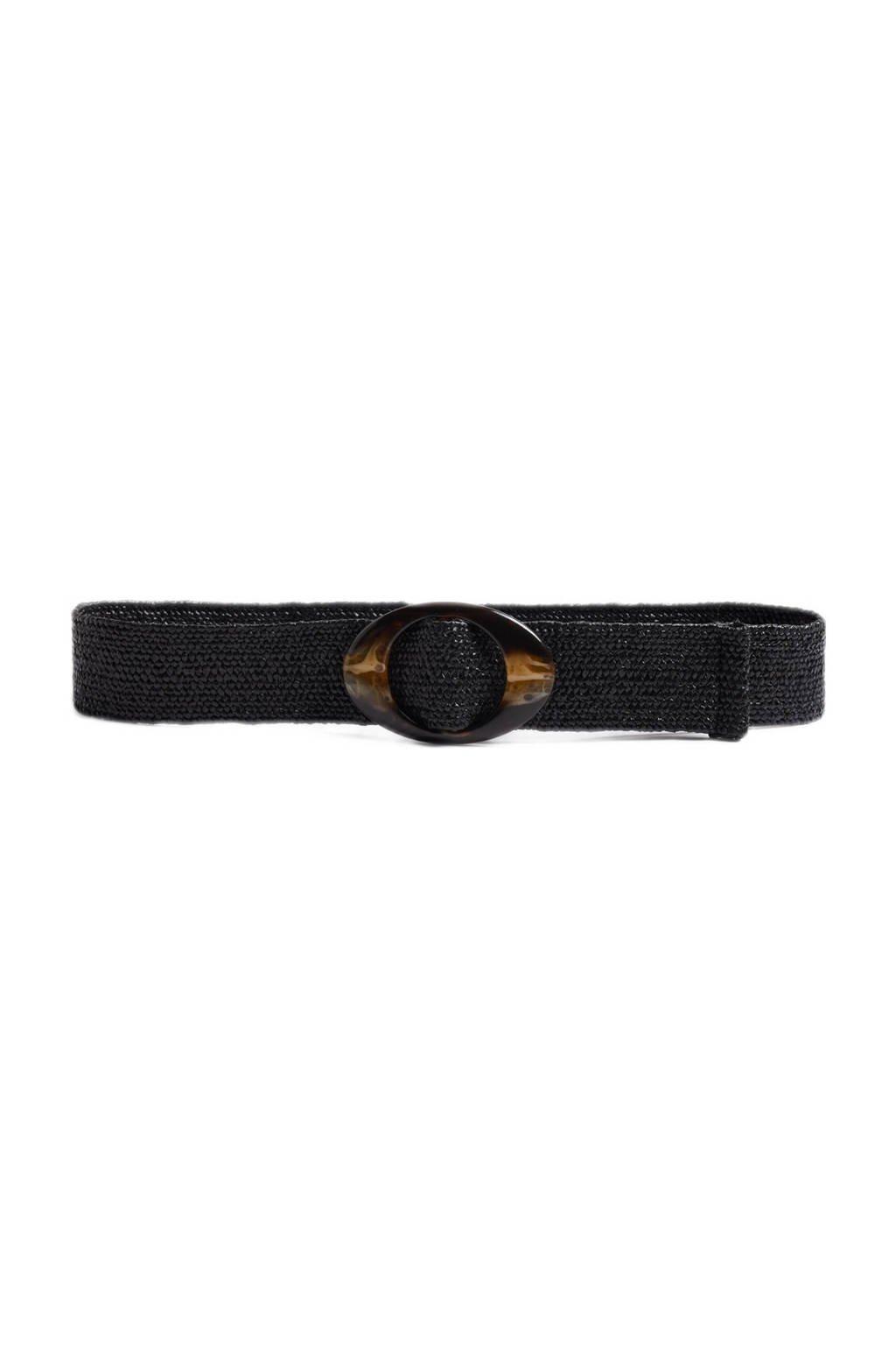 WE Fashion elastisch ceintuur zwart, Black Uni