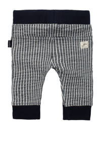 Noppies baby gestreepte slim fit joggingbroek Thame met biologisch katoen donkerblauw/wit, Donkerblauw/wit