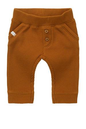 baby slim fit broek Sandown met biologisch katoen bruin