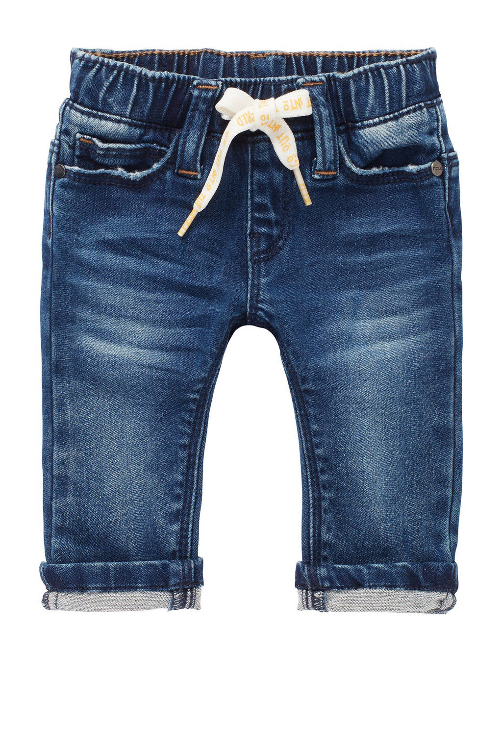 Noppies baby regular fit jeans Thorne met biologisch katoen stonewashed, Stonewashed