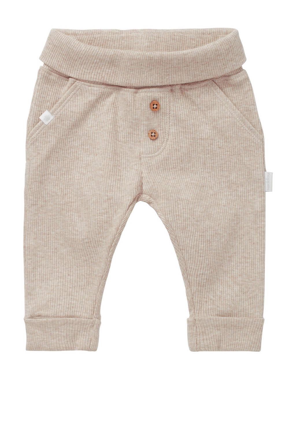 Noppies baby regular fit broek Shipley met biologisch katoen zand, Zand