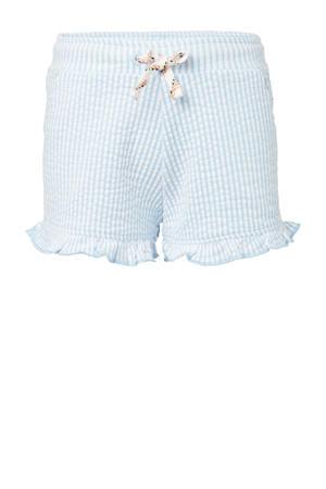 gestreepte sweatshort Lissom lichtblauw/wit