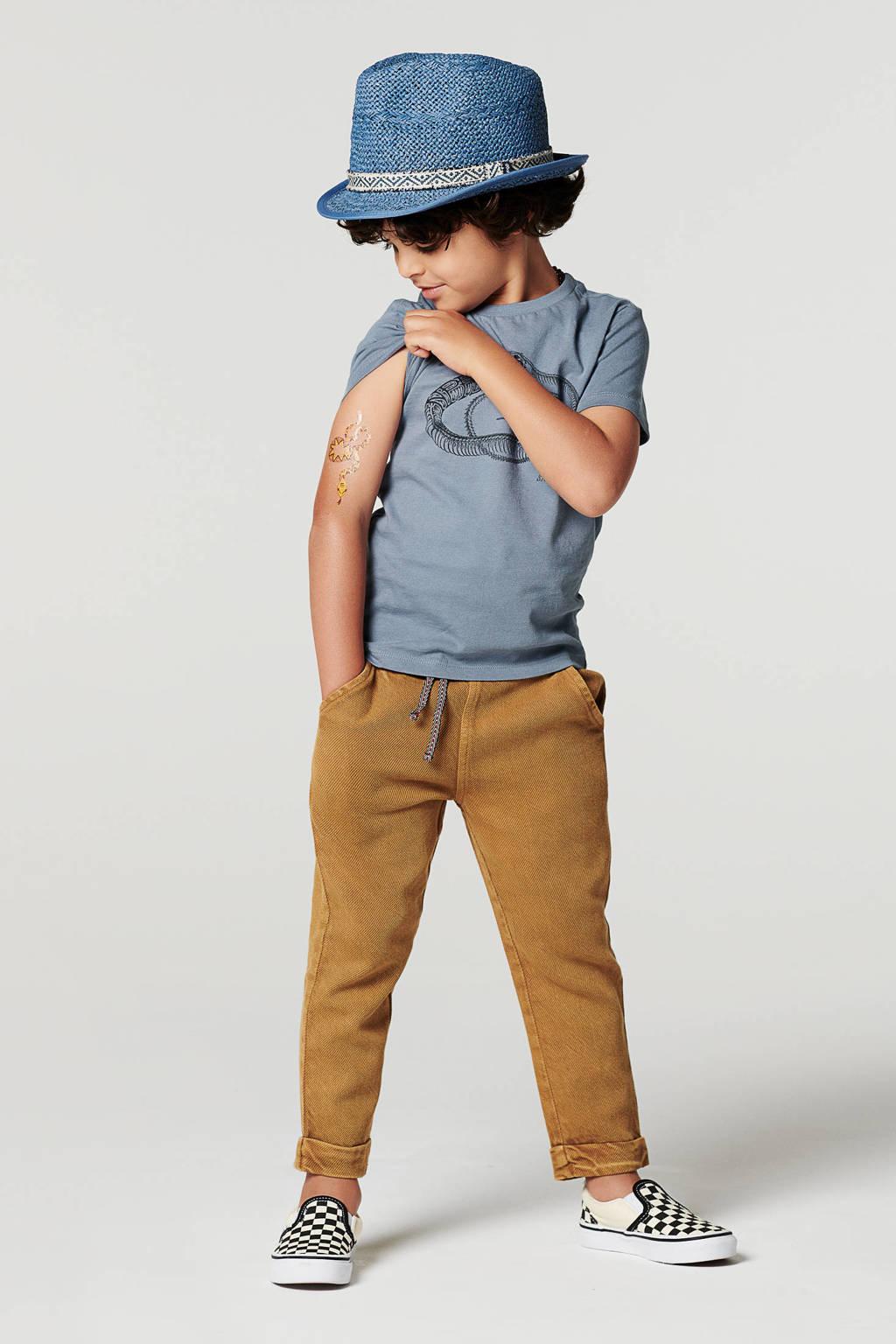 Noppies T-shirt B Tee SS Lattoncourt van biologisch katoen blauw, Blauw